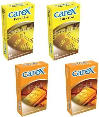 Carex Powershot x 2 and Gold x 2 Condom