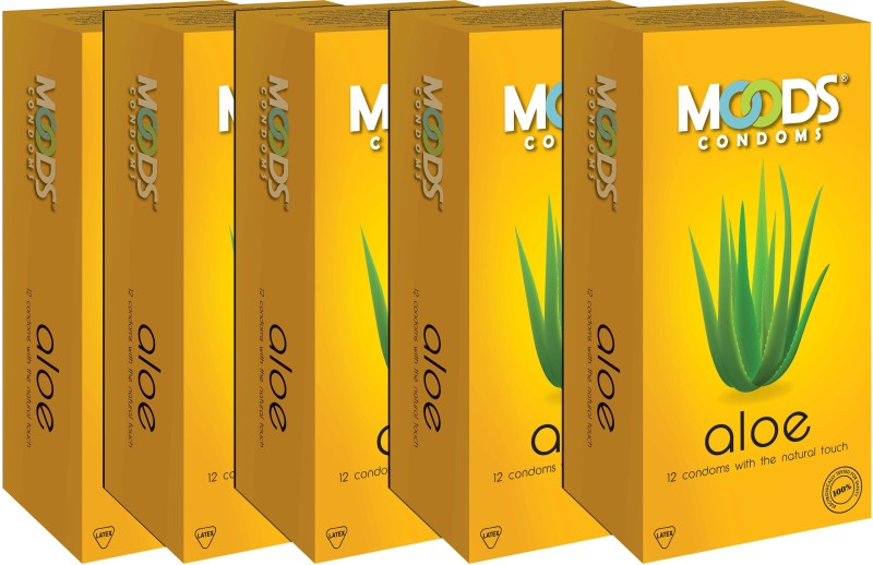 Moods Aloe Combo Condom(Set of 5, 12S)
