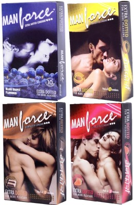 Manforce Flavored Condom(Set of 4, 10S)