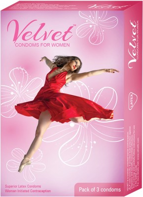 Moods Velvet Women/Female Initiated Contraception Lubricated Protection With Plasure Condom