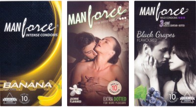 Manforce Banana, Jamin, BlackGrape Condom