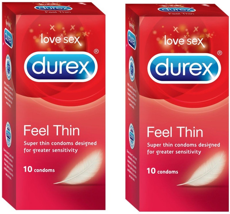 Durex Love Sex Feel Thin Condom(Set of 2, 20S)