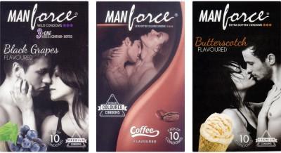 Manforce BlackGrape , Coffee, Butterscotch Condom