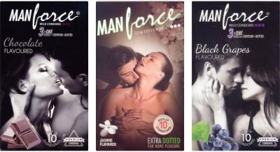 Manforce Chocolate, Jamin, BlackGrape Condom