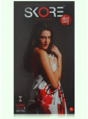 Skore Not Out Climax Delay And Dotted 10 Pcs X 10 Condom