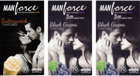 Manforce Butterscotch, BlackGrape , BlackGrape Condom
