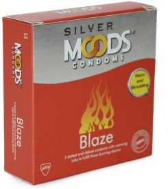 Moods Silver Blaze 3's (Pack of 4) Condom(Set of 3, 12S)