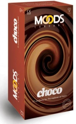 Moods Choco Chocolate Flavoured Safe And Edible Flavour Dish Up Some Ecstasy Condom(Set of 1, 12S)