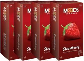 Moods Strawbery 48pc (12X4) Condom