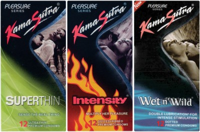 Kamasutra Superthin, Wet n Wild, Intensity Condom