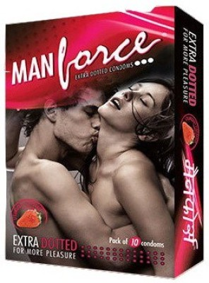 Manforce Extra Dotted Strawberry Condom