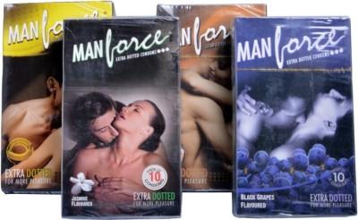 Manforce Banana,Jasmine,Chocolate,Black Grape Condom