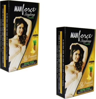 Manforce Staylong More time More Pleasure Pineapple Condoms Condom
