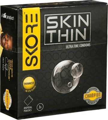 Skore Skore Champion Skin Thin Condoms 3s (Pack of 3) Condom(Set of 3, 9S)