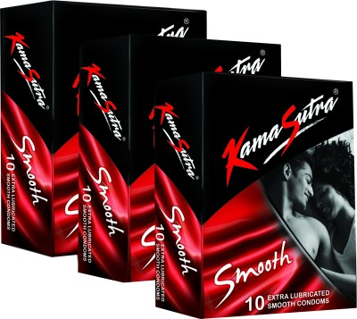 KamaSutra Smooth Monthly Combo Condom(Set of 3, 10S)