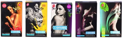 Convex Monthly Pack Combo Extratime Strawberry, Banana, Blueberry with Ultrathin Blueberry & Mint Condom