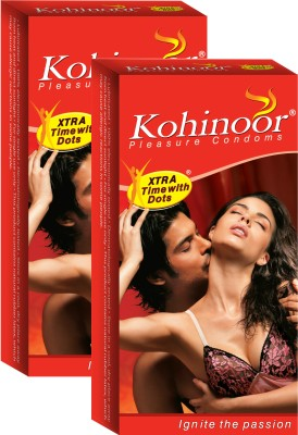 Kohinoor Xtra Time with Dots Condom(Set of 2, 10S)