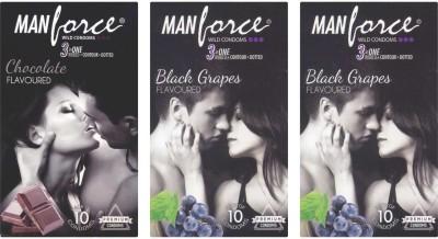 Manforce Chocolate, BlackGrape, BlackGrape Condom