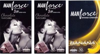 Manforce Chocolate, Chocolate, Banana Condom