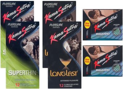 Kamasutra Superthin, Ribbed, Longlast - UPFK200106 Condom