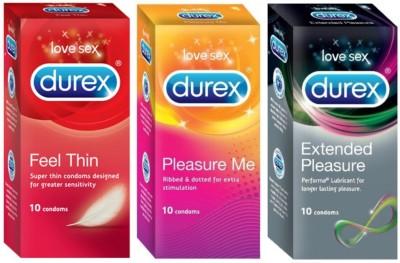 Durex Feel Thin, Pleasure Me, Extended Pleasure Condom