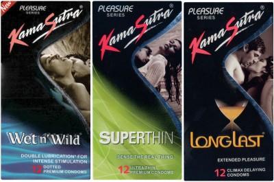 Kamasutra Wet n Wild, Superthin, Longlast Condom