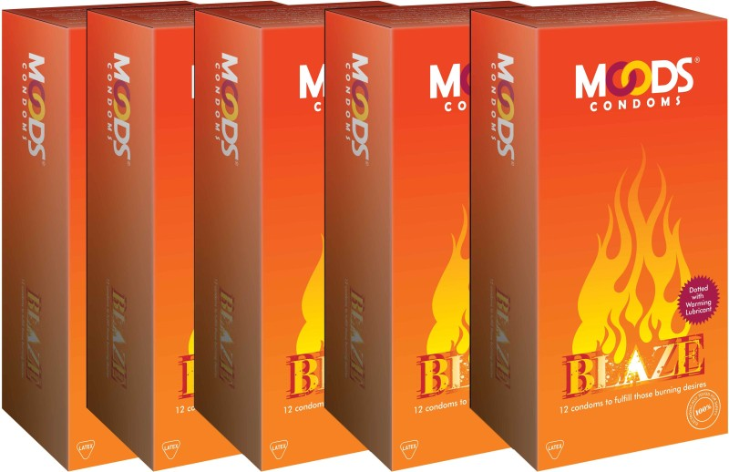 Moods Blaze Combo Condom(Set of 5, 60S)