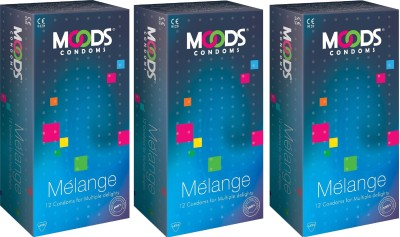 Moods melange Condom(Set of 3, 36S) at flipkart