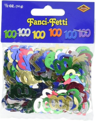 Beistle Confetti(Multicolor, Pack of 100)