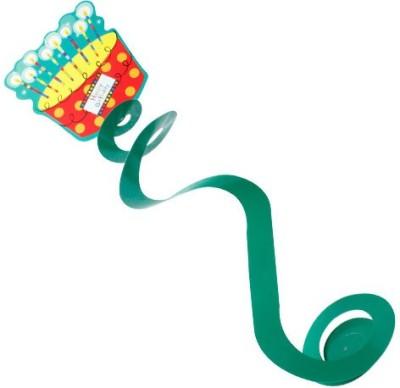 Smartcraft Dangling Swirls Birthdhay Cake Streamer(Green, Pack of 6)