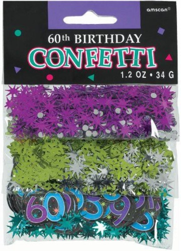 Amscan Confetti(Multicolor, Pack of 60)