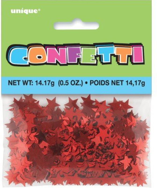 Unique Confetti(Red, Pack of 1)