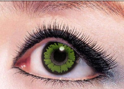 Eye Attractions Green Sapphire Yearly Contact Lens
