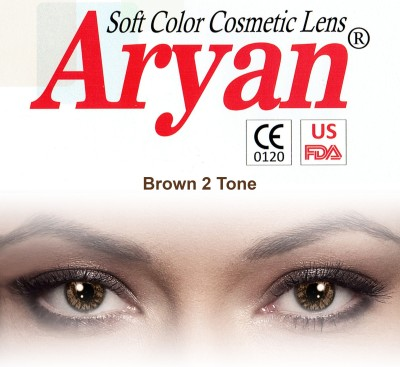 Aryan 2 Tone Brown By Visions India Yearly Contact Lens