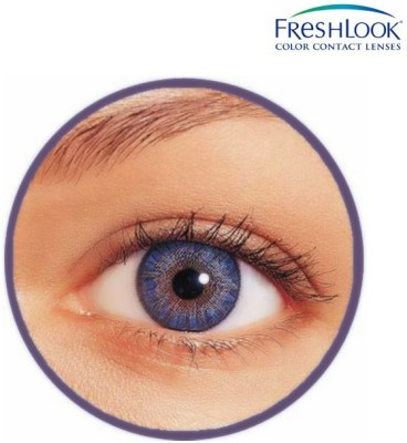 Ciba Vision Freshlook Color Blends Monthly Contact Lens(0, Freshlook Colors Blue, Pack of 2)
