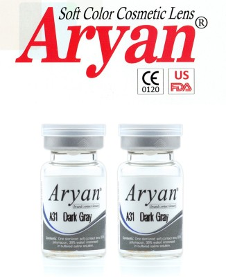 Aryan Tri Tone Dark Grey By Visions India Yearly Contact Lens