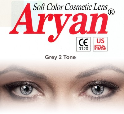 Aryan 2 Tone Grey By Visions India Yearly Contact Lens(-4.25, Grey, Pack of 2)