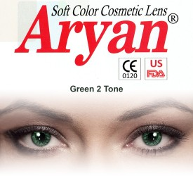 Aryan 2 Tone Green Yearly Contact Lens By Visions India Yearly Contact Lens