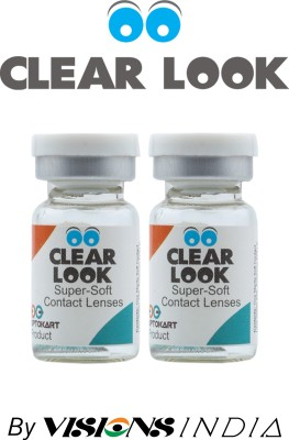 Clear Look Tri Tone 0.00 Power By Visions India Yearly Contact Lens