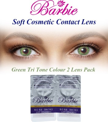 Barbie Tri Tone Green Zero Power By Visions India Monthly Contact Lens