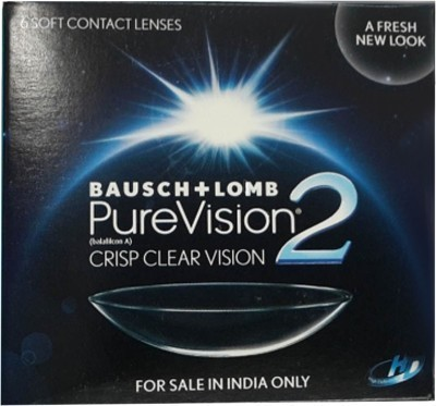 Bausch & Lomb PureVision2 - HD Monthly Contact Lens(-2.00, Transparent, Pack of 6)