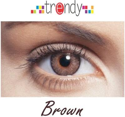 Trendy Brown Monthly Contact Lens(Zero Power, Brown, Pack of 2) at flipkart