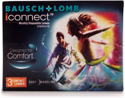 Bausch & Lomb B&L_IconnectClear-3.50 Monthly Contact Lens(-3.5, Transparent, Pack of 3)