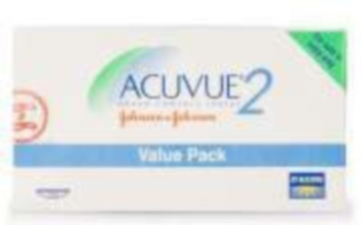 Johnson & Johnson Acuvue 2 Value Pack Bi-weekly Contact Lens(-4, Transparent, Pack of 12)