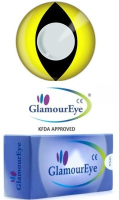 Glamour Eye Party Yellow Cat Yearly Contact Lens