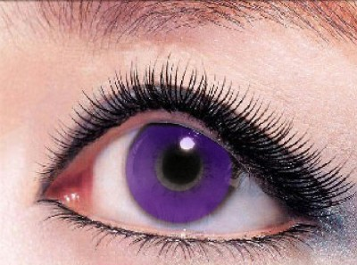Eye Attractions Rounded Purple Yearly Contact Lens