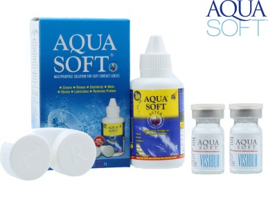 Aquasoft Visiblu With 60ml Lens Solution Kit by Visions India Yearly Contact Lens