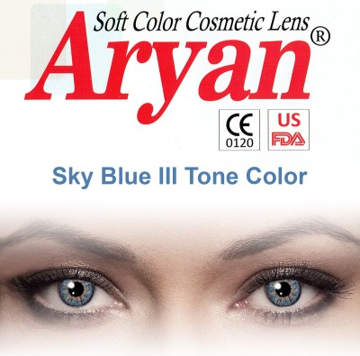 Aryan Tri Tone Sky Blue By Visions India Yearly Contact Lens(-2.25, Sky Blue, Pack of 2)