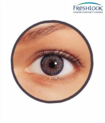 Ciba Vision Freshlook Color Blends Monthly Contact Lens(0, Freshlook Colors Grey, Pack of 2)