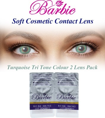 Barbie Tri Tone Turquoise Zero Power By Visions India Monthly Contact Lens